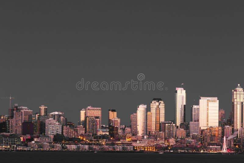 Seattle-Ufergegend und Ferris Wheel stockfotografie