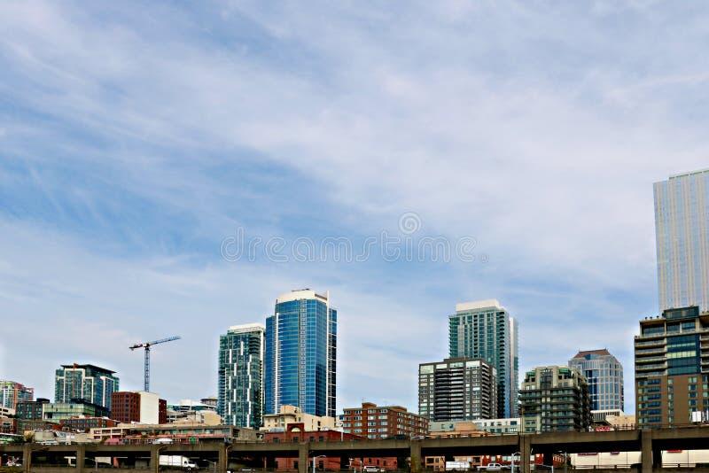 Seattle, USA, am 30. August 2018: Ansicht der Wolkenkratzer in Seattle stockfoto