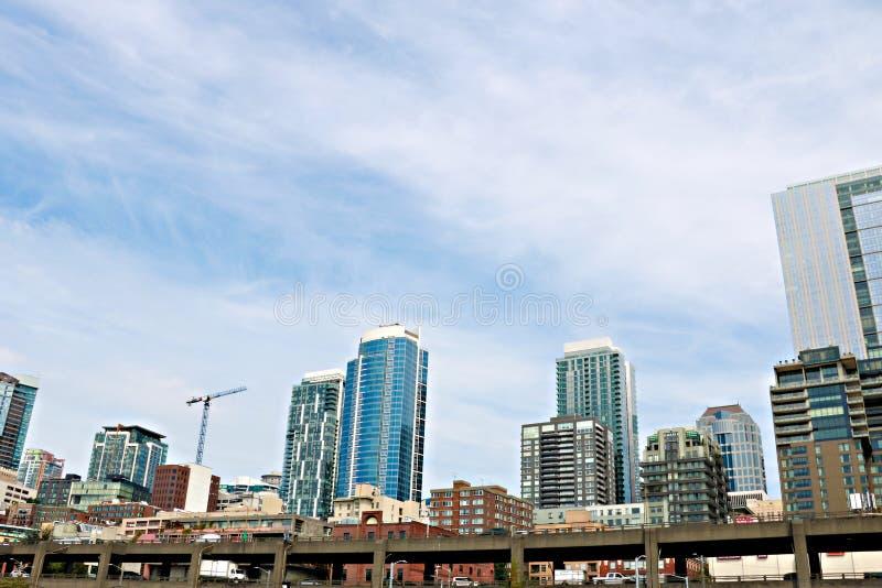 Seattle, USA, am 30. August 2018: Ansicht der Wolkenkratzer in Seattle stockfotos