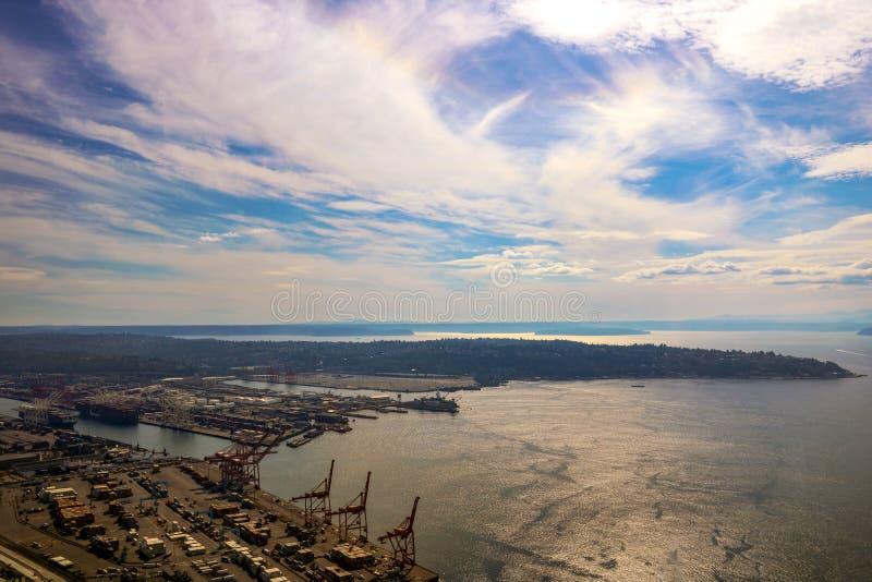 Seattle, USA, am 31. August 2018: Seattle-Ufergegend, WA, USA lizenzfreies stockbild