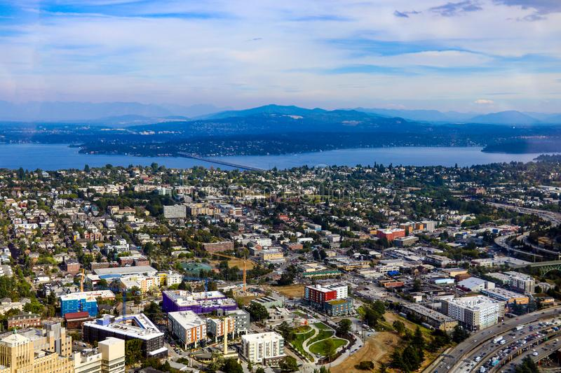 Seattle, USA, August 31, 2018: View of downtown Seattle. Seattle, USA, August 31 2018 View of downtown Seattle royalty free stock image