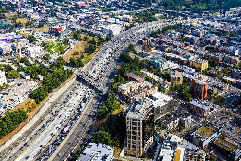 Seattle, USA, August 31, 2018: View of downtown Seattle. Seattle, USA, August 31 2018 View of downtown Seattle royalty free stock images