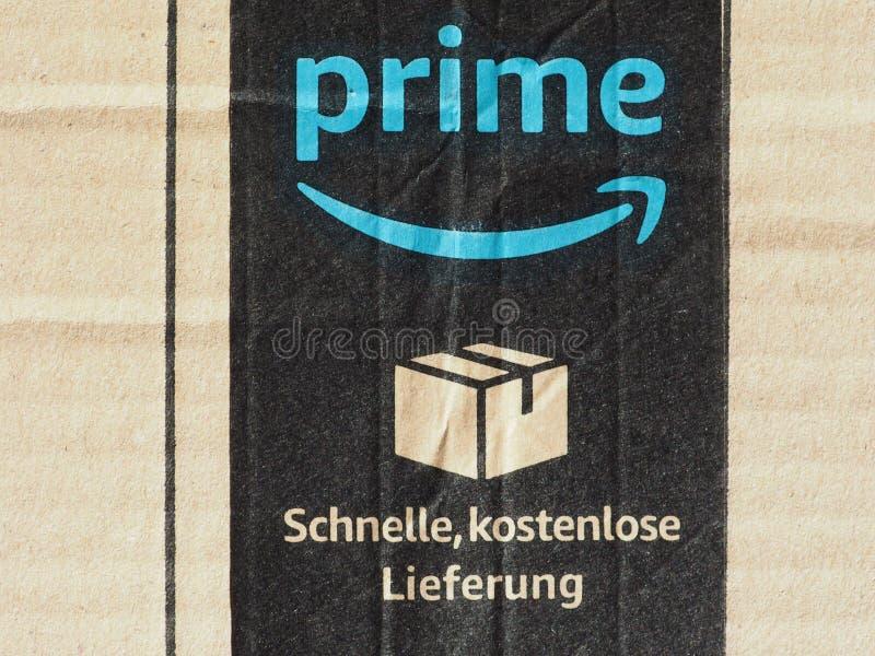 Amazon prime label royalty free stock photos