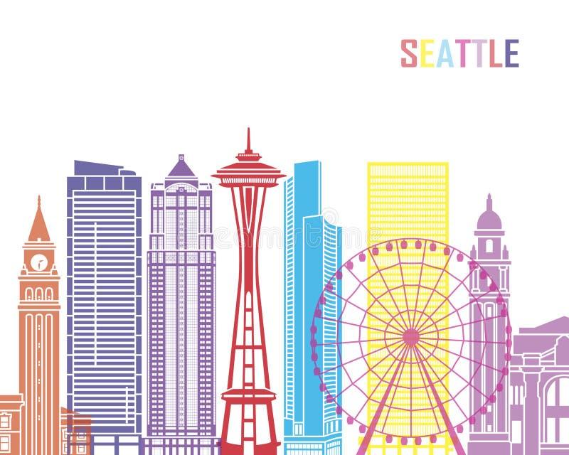 Seattle_V2 skyline pop vector illustration