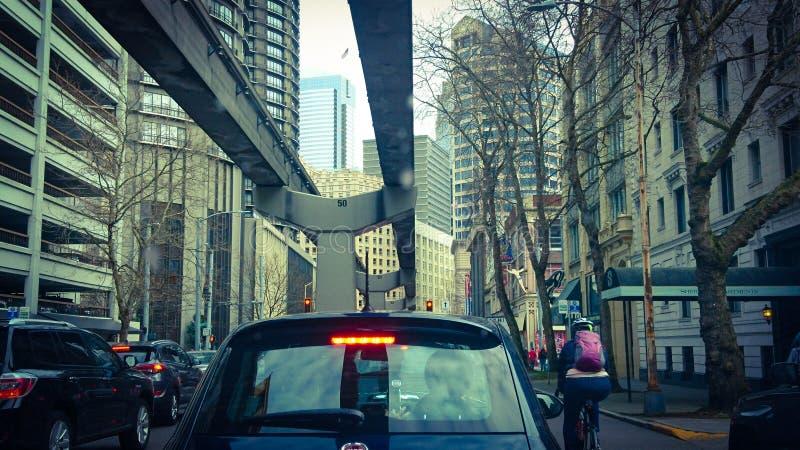 Seattle van de binnenstad stock afbeelding