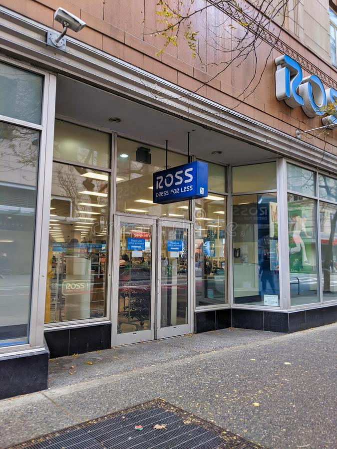 Ross Dress For Less storefront in the heart of downtown Seattle royalty free stock photography
