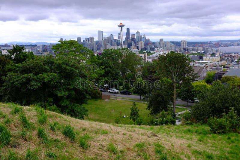 Seattle, Wahsington et aiguille de l'espace image stock