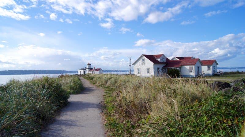 SEATTLE, WASHINGOTN - WRZESIEŃ 2014: West Point latarnia morska Ja dodawał Krajowy rejestr Historyczni miejsca wewnątrz obrazy stock