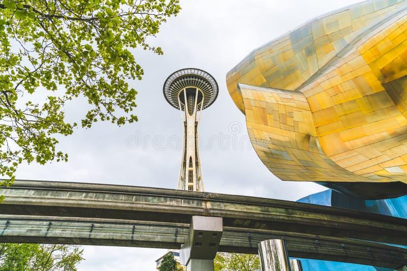 SEATTLE, WASHINGTON - April, 2016: Het Project EMP van de ervaringsmuziek stock afbeelding