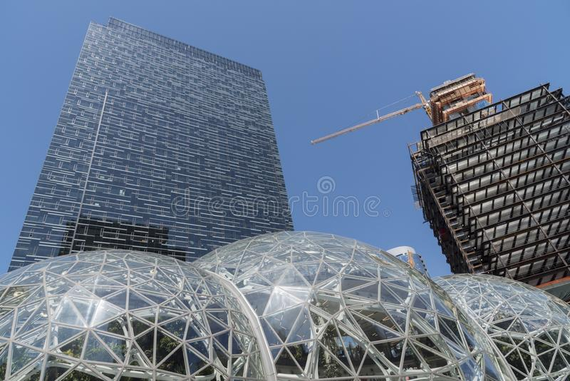 Amazon office tower royalty free stock images