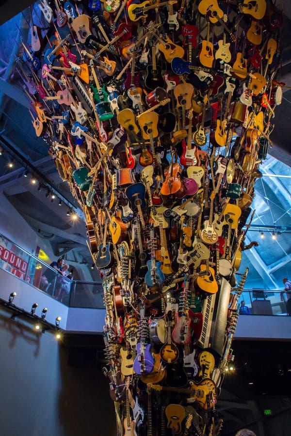 Seattle, Washington, de V.S. - 4 Augustus, 2013: Art Installation-reas royalty-vrije stock fotografie