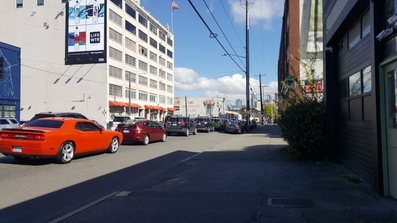 Seattle Washington trafik royaltyfri foto
