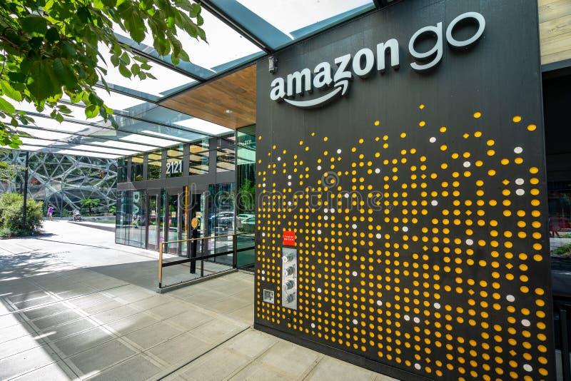 Seattle, Washington, USA - Amazon Go grocery store stock photo