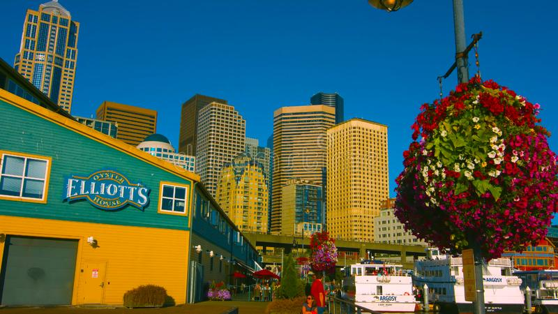 Seattle, Washington, USA mai 5, 2019 . Day view of the Seattle Aquarium located on Pier ; on the Elliott Bay waterfront in stock photography