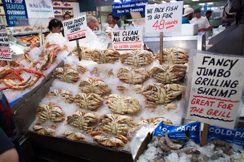 Seattle, Washington, USA - May 4, 2018: Pike Place Fish Market - famous market in Seattle stock photography