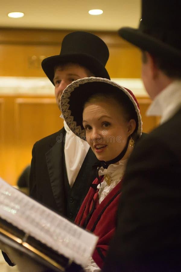 Seattle, Waszyngtońskiego †mężczyzna i kobiety ubiera trad 'grupa obrazy stock