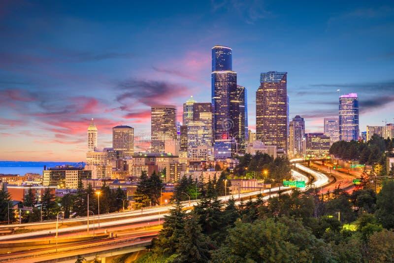 Seattle, Waszyngton, usa linia horyzontu obraz stock