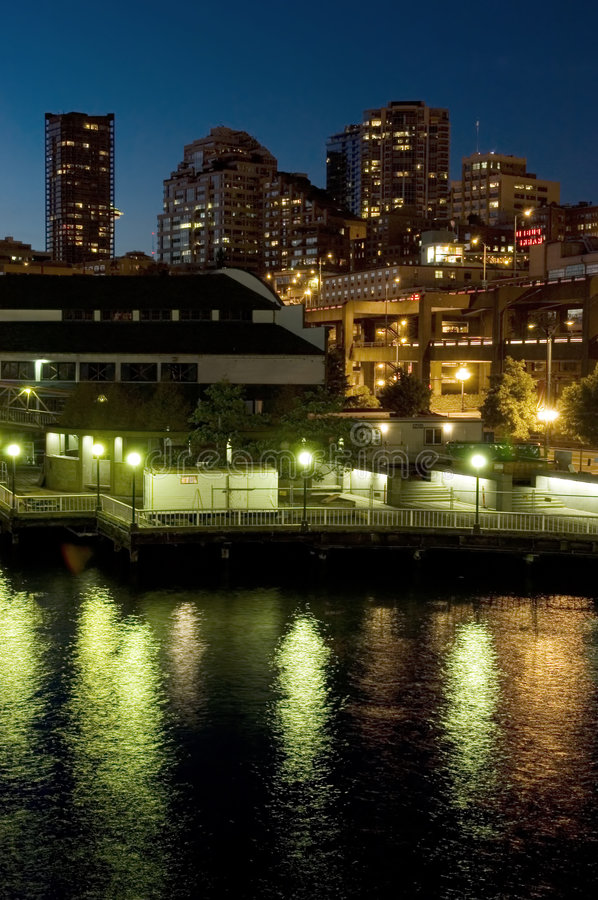 Download Seattle Waterfront At Night Stock Image - Image: 230847
