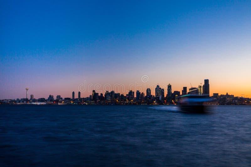 Seattle wschód słońca fotografia royalty free