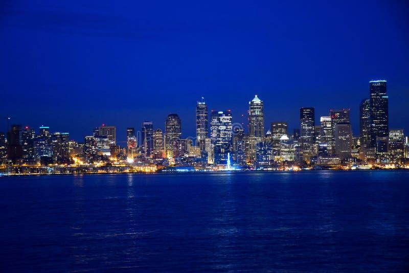 Seattle zmierzch zdjęcie stock