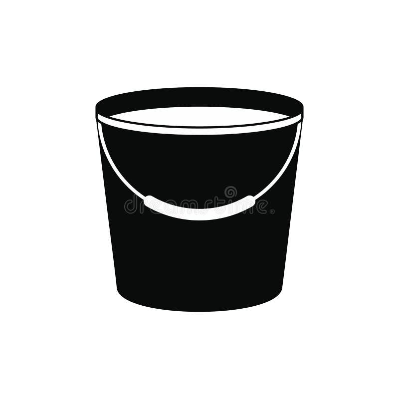 Seau complètement d'icône de l'eau illustration stock
