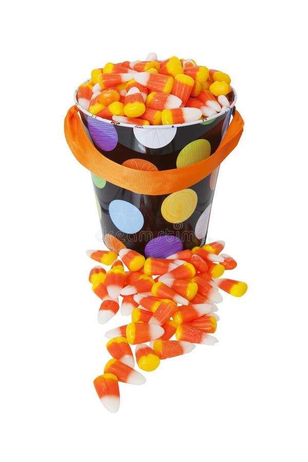 Seau de bonbons au maïs photo stock