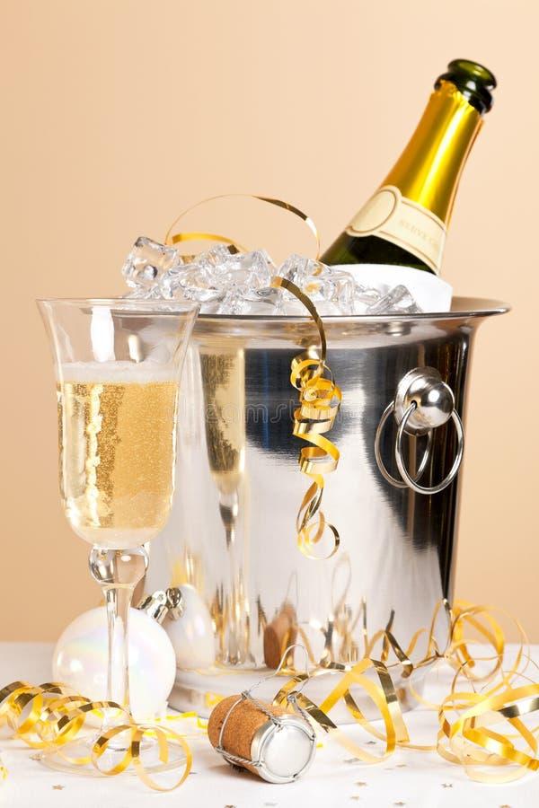 seau glace de champagne et verre cristal photographie stock libre de droits image 28073307. Black Bedroom Furniture Sets. Home Design Ideas