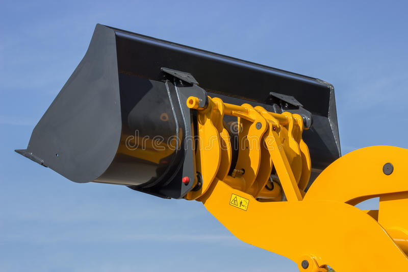 Seau hydraulique de buldozer photos libres de droits