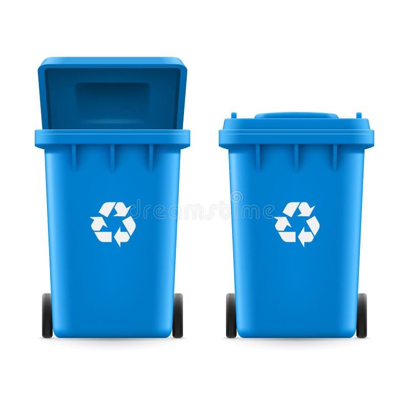 Seaux pour des déchets illustration stock