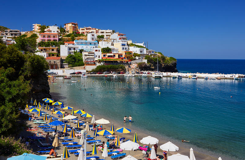 Seaview στο νησί της Κρήτης το καλοκαίρι στοκ εικόνες