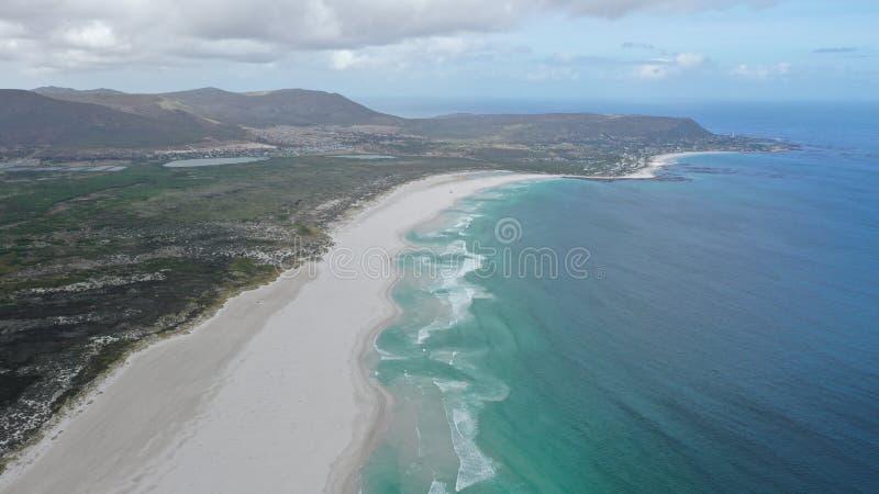 Seaview com um dron em capetown fotos de stock royalty free