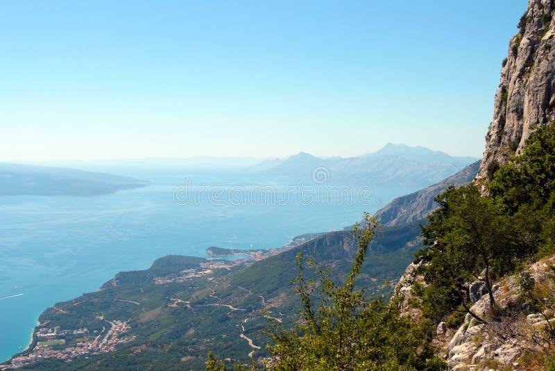 Seaview dalla montagna fotografie stock