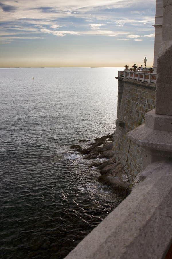 Seaview di Castello Miramare, Trieste, Italia fotografia stock libera da diritti