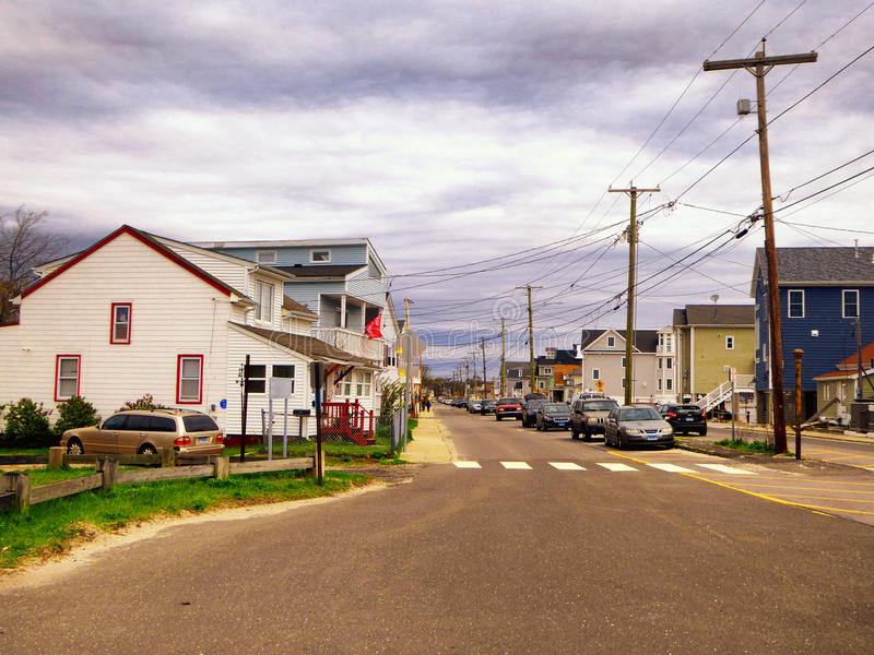 Seaview domy blisko Charles wyspy Milford Connecticut fotografia royalty free