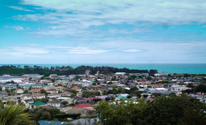 Seaview em Oamaru, Nova Zelândia imagens de stock