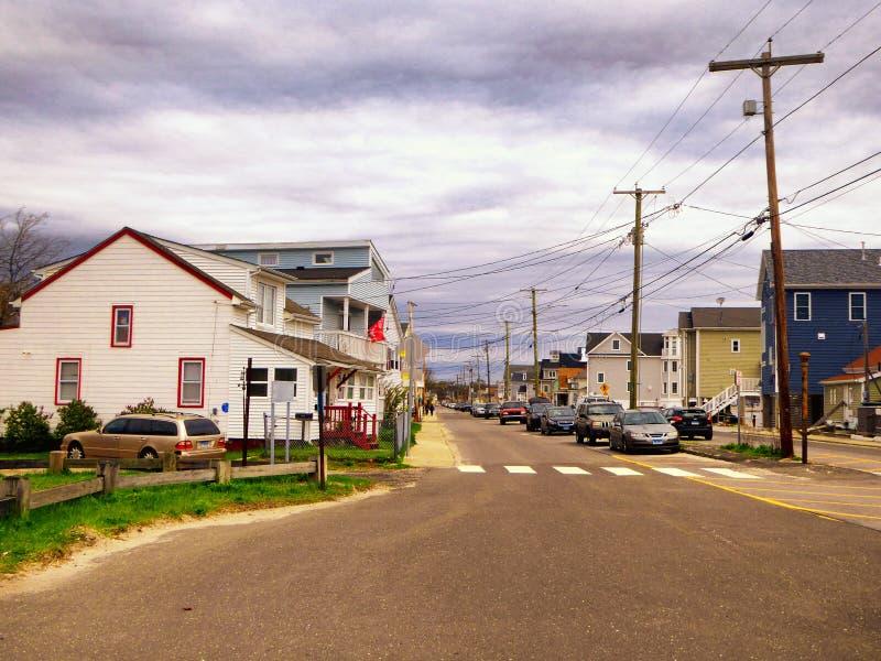 Seaview-Häuser nahe Charles Island Milford Connecticut lizenzfreie stockfotografie