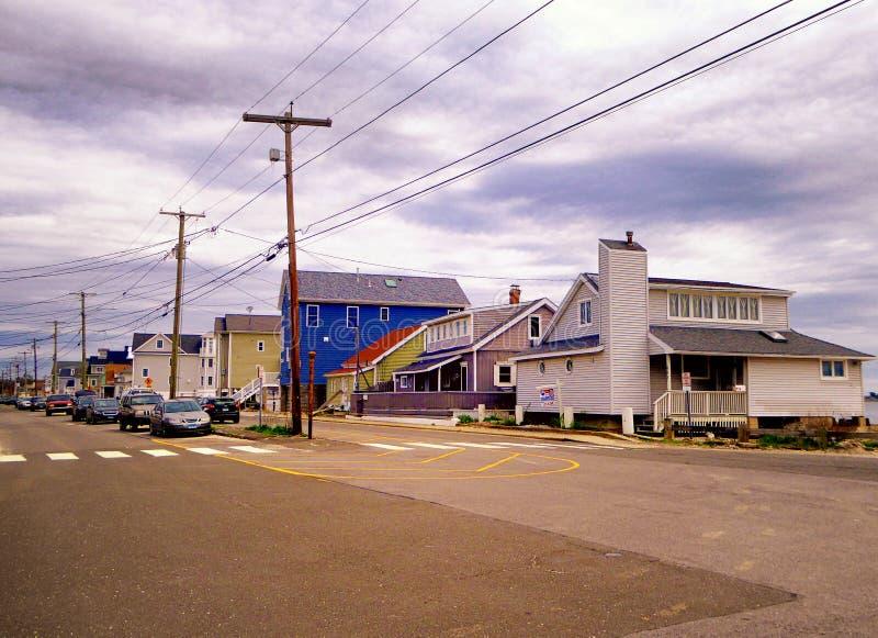 Seaview-Häuser nahe Charles Island Milford Connecticut stockfoto