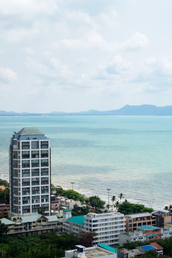 Seaview in Jomtien, Pattaya royalty free stock image