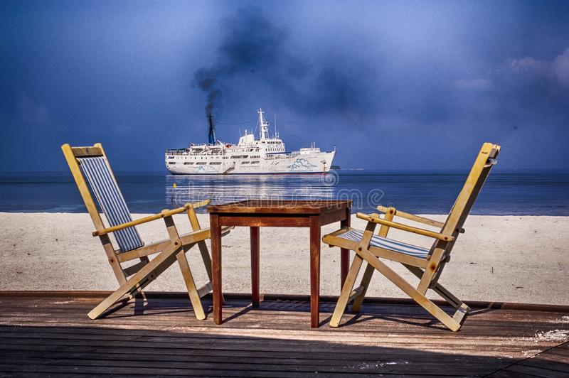 Seaview royalty free stock photos