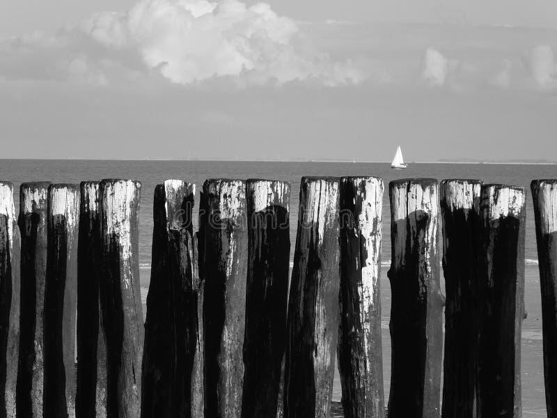 Seaview na Holanda imagem de stock