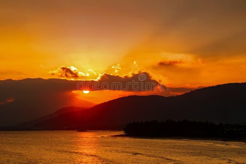 Seaview no tempo do por do sol