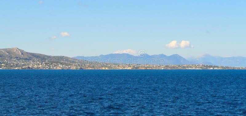 Seaview over Saronic Gulf in Greece, June, 2017. Aegina Island, Greece on June 19, 2017 royalty free stock photo