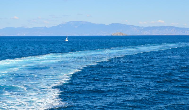 Seaview over Saronic Gulf in Greece. June, 2017 stock image