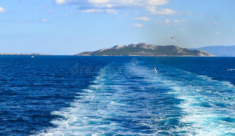 Seaview over Saronic Gulf in Greece royalty free stock photos