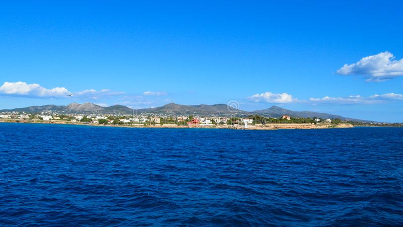 Seaview over Saronic Gulf in Greece royalty free stock image