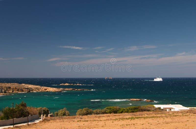 seaview paros Греции стоковая фотография