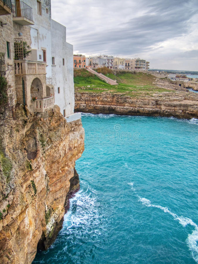 Seaview of Polignano a Mare. Apulia. stock photography