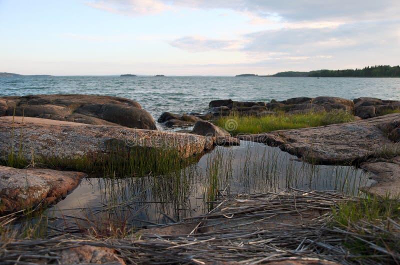 Seaview in Sund op Aland-eilanden stock foto