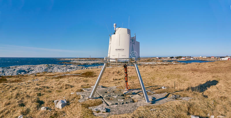 Seawatch, wind lidar buoy stock photography