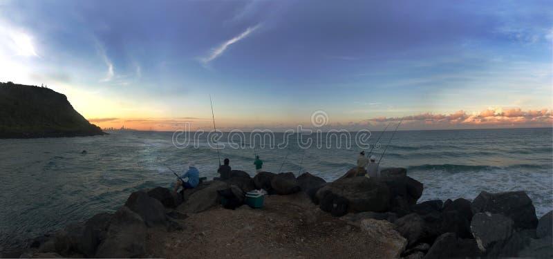 seaway рыболовов сумрака стоковое изображение